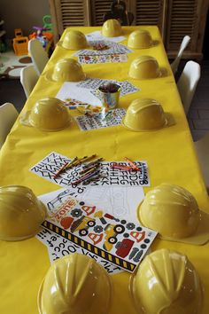 Our Medley of Memories: Dump Truck Birthday Party Decor. Cutest party ever. Construction Birthday Parties, 4th Birthday Parties, Birthday Party Decorations, Birthday Fun, 3 Year Old Birthday Party Boy, Construction Party Decorations, Birthday Banners, Birthday Ideas, 1st Birthdays