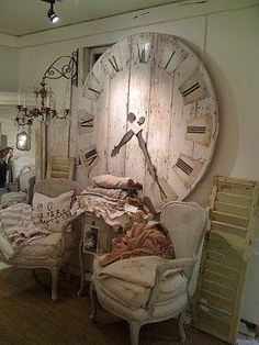 In LOVE! with this giant rustic wall clock by tisi5170