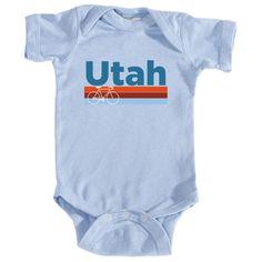 Retro Bike & Mountain Bike - Utah Infant Onesie/Bodysuit