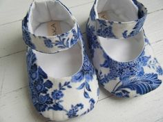 A Positively Beautiful Blog  blue baby shoes
