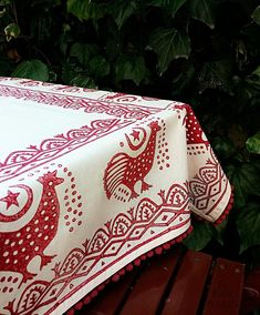 Cinnamon Hand Block Printed Ivory Pompom Tablecloth Anatolian Animal Motifs Ottoman Cotton Handcrafted Turkish Ethnic Tokat Yazma by JIJIMA on Etsy Diy Design, Creative Design, Motif Photo, Wood Stamp, Ivoire, Unique Colors, Wood Print, Elsa, Hand Made