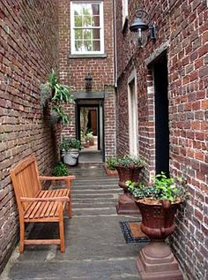 I love the courtyards like this all over Savannah.  #Savannah #NoBoysAllowed