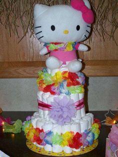 hawaiin hello kitty luau baby shower party ideas