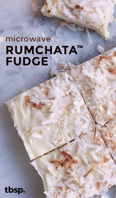 Four-ingredient, RumChata™-laced white chocolate fudge you can make in the microwave!