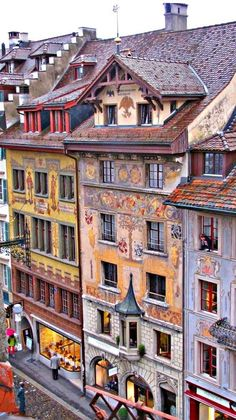 Pretty buildings in Lucerne, Switzerland.