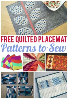A quick quilted project, placemats are fun to make and also come in handy when you need a handmade gift. Find seven fast & friendly quilted placemat patterns (and did we mention they're all FREE?!) here.