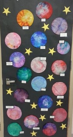 space unit: coffee filter planets