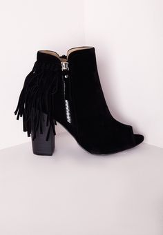 3e3e2ce4a727 Tassel Ankle Boot Black - Shoes - Boots - Missguided