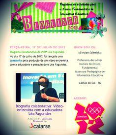 Professores blogueiros também divulgam a iniciativa do vídeo-entrevista. Muitos deles são superfãs da Léa!   http://bloguinfo.blogspot.com.br/2012/07/biografia-colaborativa-da-prof-lea.html