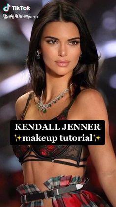 Cat Eye Makeup, Natural Eye Makeup, Kendall Jenner Eyes, Kendall Jenner Makeup Tutorial, Ball Makeup, Aesthetic Makeup, Makeup Routine, Makeup Inspiration, Makeup Looks