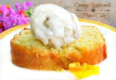 This is an Ina Garten recipe and it makes 2 loaves of the best orange buttermilk pound cake you'll ever eat! This delicious pound cake freezes very well for a great summer dessert. Köstliche Desserts, Summer Desserts, Delicious Desserts, Dessert Recipes, Yummy Food, Summer Treats, Chefs, Scones, Buttermilk Pound Cake