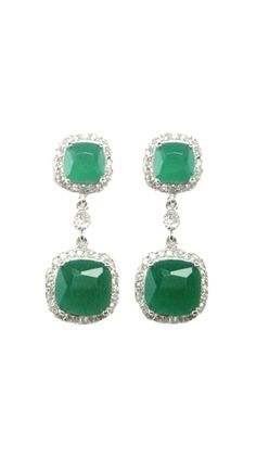 Emerald green earrings  | More luscious greens here: http://mylusciouslife.com/photo-galleries/a-colourful-life-colours-patterns-and-textiles/