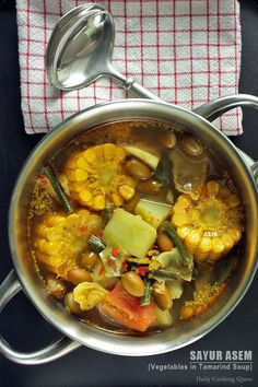 Sayur Asem - Vegetables in Tamarind Soup never made sayur with tamarind before, must give it a try.