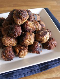 Smoked Gouda and Apple Turkey Meatballs - plentytude.  These didn't turn out like meatballs, more like sliders, but they were still very good!  Great use of inexpensive ground turkey!