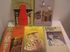 Brochures-Booklets-Lot-Spain-Madrid-Monuments-Cultural-Life-Santiago-Museums