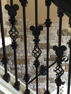 Mickey Mouse spindles, work in progress! Casa Disney, Disney House, Disney Diy, Disney Dream, Love Your Home, My Dream Home, Mickey Mouse House, Disney Dinner, Disney Furniture