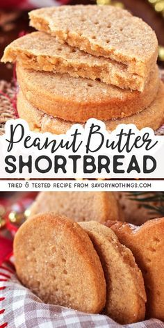 Peanut Butter Shortbread Are you looking for an easy but unique Christmas cookie? This Peanut Butter Shortbread recipe is your winner! It's crumbly and buttery like traditional Scottish shortbread, bu