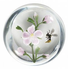 paul+stankard+paperweights | Paul Stankard (American, b.1943) Apple Blossom and Bee Glass ...