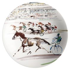 Gien - 'Cavaliers' Collection - Cake Platter