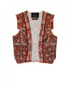 Patchwork embellished gilet - Gilets - Official Scotch & Soda Online Fashion & Apparel Shops