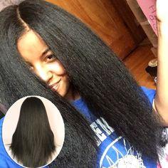 4x4 Kinky Straight Silk Base Full Lace Wig Italian Yaki Virgin Hair Brazilian Silk Top Glueless Full Lace Human Hair Wigs