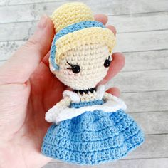 Leithygurumi: Amigurumi Princess Cinderella Recipe / Amigurumi Princess Cinderella Free Pattern