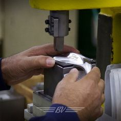 """April 15, 2014: """"Special wedges call for special tools. Preparing a WedgeWorks Hand Ground for toe stamping. #custom,"""" explained Vokey Wedges."""