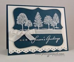 PP75 - Lovely as a Snow Covered Tree by Cindy Hall - Cards and Paper Crafts at Splitcoaststampers