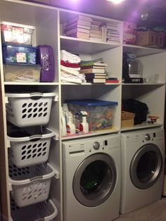 laundry room organization | Laundry room organization shelves | For the Home
