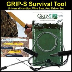Amazon.com: FastFire Grip-S Survival Tool with Handles, Drivers and Wire Saw: Sports & Outdoors