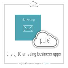 Pure's Marketing App allows you to manage email marketing, while also tracking useful statistics.   Click  to see how else we can help in the management of your company.