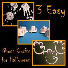 3 easy ghost crafts for kids to do for Halloween plus over 80 other ideas linked up to make Halloween creative this year