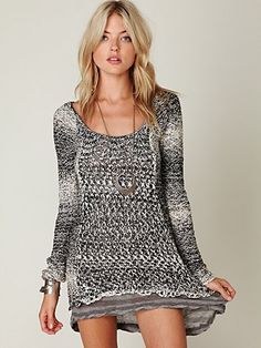 Free People Scoop Back Knit 2fer Tunic.  $118.00.  Gorgeous and versatile!