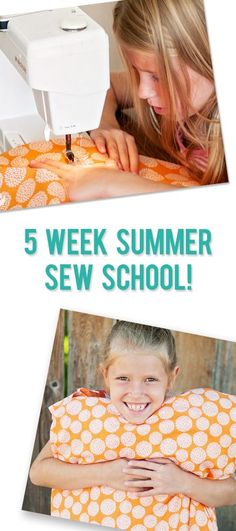 5 Week Summer Sew School at home for kids! So fun!