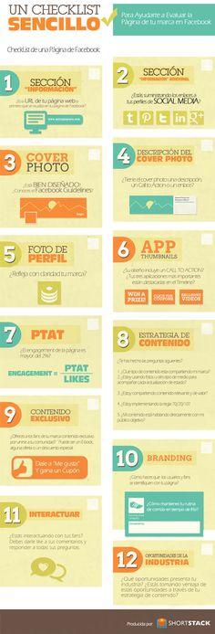 Cómo evaluar la página de tu marca en FaceBook #infografia