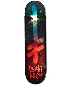 Improve your skate skills with a medium concave design for solid pop and a galaxy print Deathwish Gang Logo graphic for out of this world style.