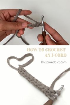 Hi everyone, I've got a really quick, but really useful I-cord project to share with everyone today. It can be used for purse or bag straps, waist ties, headbands, straps, ropes, drawstrings and probably a dozen more you could share with me. My husband even loves them for outdoor projects and camping. #crochet #howtocrochet #icord #howtocrochetanicord #icordtutorial #crochettutorial #crochetdiy Crochet I Cord, Diy Crochet, Crochet Crafts, Crochet Projects, Crochet Basics, Fabric Crafts, Crochet Stitches Patterns, Knitting Stitches, Knitting Patterns