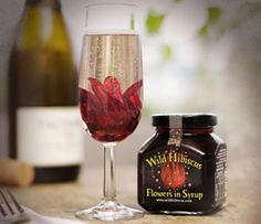 Wild Hibiscus Flowers in Syrup - Shop