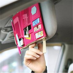Utility Auto Car Sun Visor Point Pocket Card Pouch Organizer Storage Bag  Holder 8663a3392329