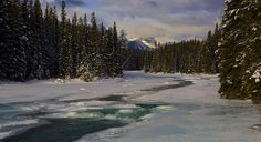 National Park, Canada, River, Ice