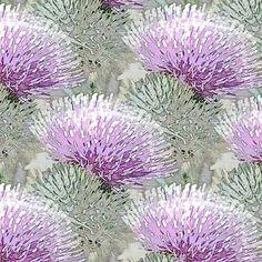 Pale purple Thistle fabric by vib on Spoonflower - custom fabric