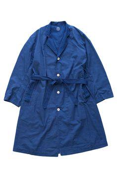 Porter Classic - DOT COAT - BLUE Porter Classic, Raincoat, Dots, Shirt Dress, Jackets, Blue, Shirts, Clothes, Dresses
