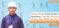 ‪#‎ProudMoment‬ Young Athlete of Akal Academy Salemkhera, Virender Machra clears the SPAT test for National Level Athletics Participation! Read More: http://barusahib.org/…/young-athlete-salemkhera-clears-the…/