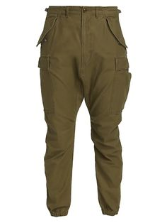 R13 Military Cargo Pants | SaksFifthAvenue Cargo Pants, Military, Closure, Belt, Pockets, Zip, Contemporary, Button, Clothes