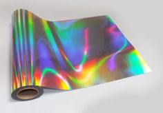 We send our vinyl rolled, not folded. In the case of large orders it may be sent in a secure box. On rare occasions large orders will to be sent in a secure box. Neo Chrome effect Self Adhesive Sign Making Vinyl (aka Sticky Back Plastic). Holographic Paint, Holographic Fashion, Holographic Universe, Sticky Back Plastic, Plastic Signs, Vinyl Signs, Brainstorm, Graphic Prints, Rainbow Colors