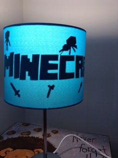 Minecraft tnt lamp light shade lamp light lights and minecraft kids character minecraft silhouette lamp by enchantedforkids aloadofball Gallery