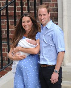 The Duke and Duchess of Cambridge were all smiles as they left the hospital with the royal baby!