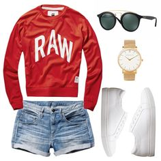 A lightweight pullover with bold lettering and boyfriend denim shorts reads laid-back cool with fresh sneakers and round sunnies.