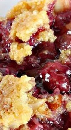 Cobbler TEXAS COBBLER ~~~ Spectacular dump cake-type dessert using blueberry and cherry pie fillings, crushed pineapple, almonds and coconut. Great for holiday entertaining and potlucks.Filling Filling may refer to: Dump Cake Recipes, Fruit Recipes, Desert Recipes, Baking Recipes, Sweet Recipes, Recipies, Sweet Cherry Recipes, Bisquick Recipes, 13 Desserts