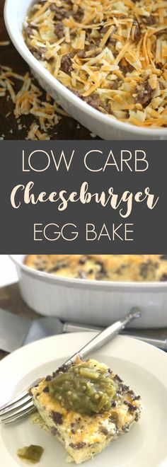 Cauliflower cheeseburger egg bake. Simple, low carb recipe that is perfect for weeknights.